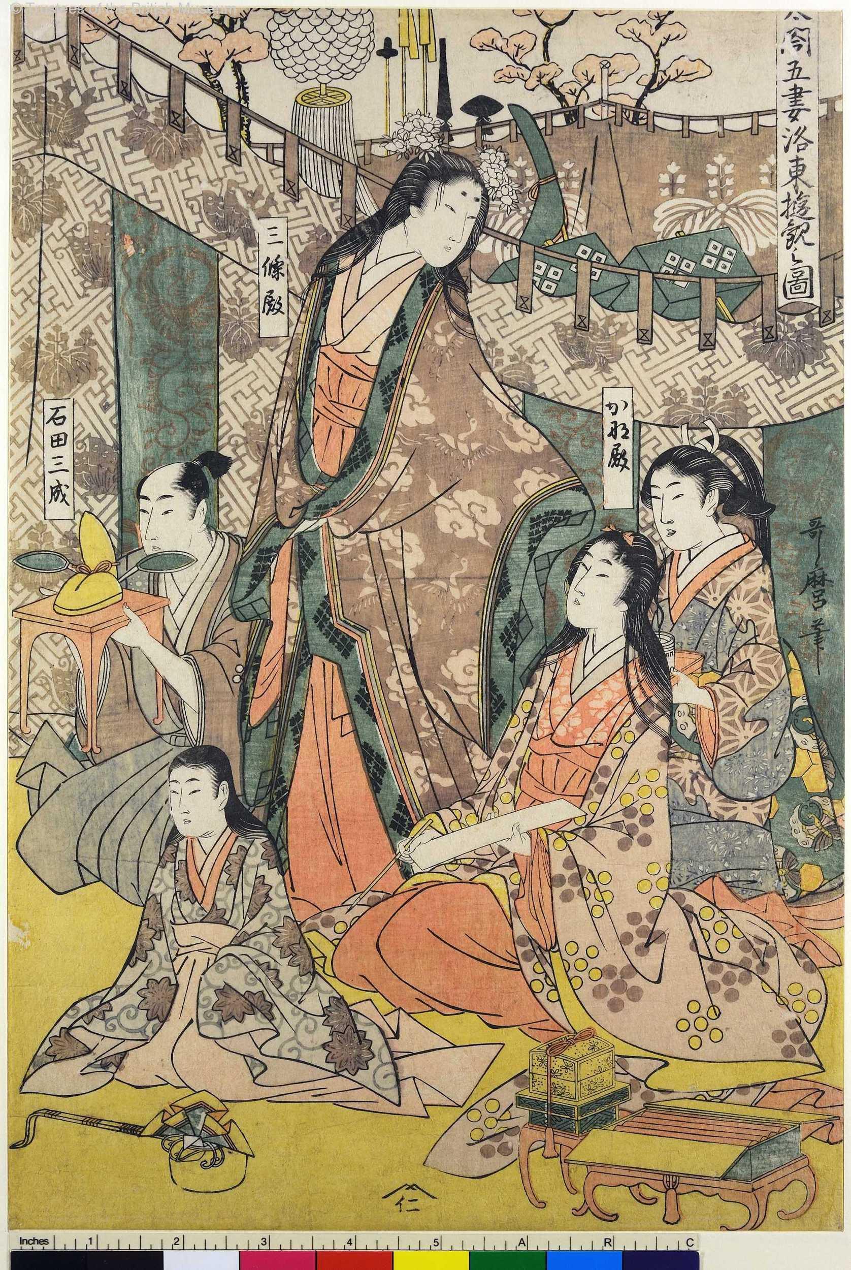 A3-01 「太閤五妻洛東遊観之図」