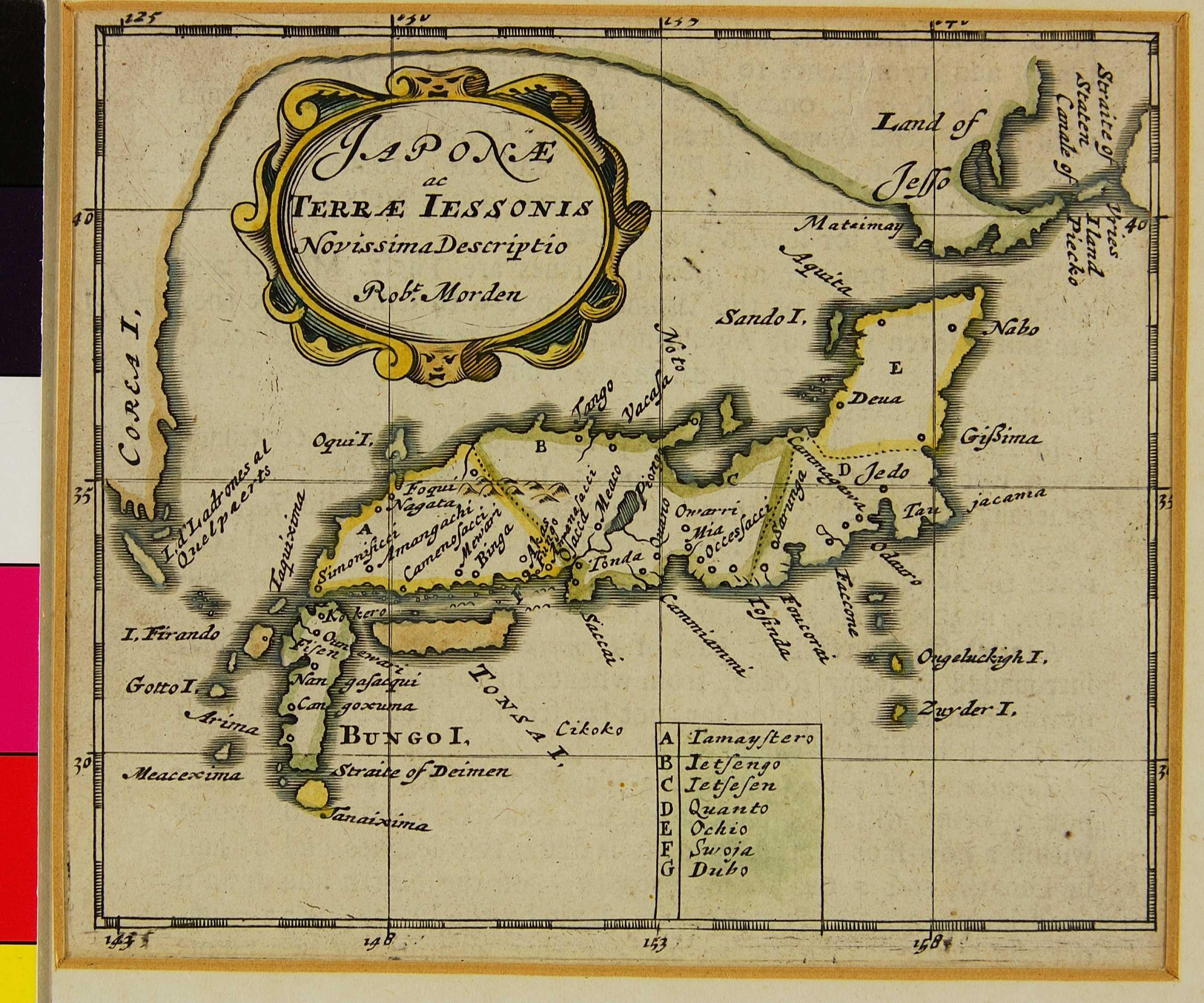05.04 JAPONÆ ac TERRÆ IESSONIS Novissima Descriptio (Japan and the Land of Ezo) [10]