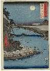 MFA-11.16879「六十余州名所図会」 「近江(おうみ)」「琵琶湖(びわこ)石山寺(いしやまでら)」・『』