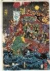 MFA-00.1085弘化02・・国芳「長門赤間の浦にて源平大合戦平家一門悉く滅る図」