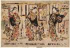 MFA-21.7192「江戸、京、大坂の美人三幅対」 ・『』