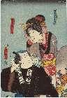 MFA-11.40183「九太夫娘おくみ」「五郎太実ハ勘平」 嘉永03・05・01市村座『忠臣蔵五十三紀』