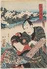 MFA-11.25942「風俗花くらべ 京都嵐山の桜」 「長右衛門」「おはん」・・(見立)『』