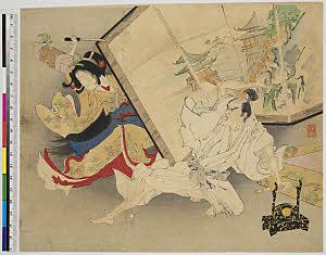 TASAHI-11700350-01 短刀で殿に斬りかかる美女・『』