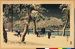 arcUP2588「京洛名所」 「加茂堤の雪」・・『』