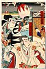 arcUP3523「大星力弥 中村福助」「師直 市川左団次」 明治22・03・桐『仮名手本忠臣蔵』