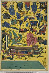 arcUP7363「大新板切組灯籠」 「忠臣蔵一力茶屋場七段目」「組上の図」 ・・『』