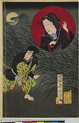 arcUP7595(「百面相之図」) 明治16・04・23新富『柳桜東錦絵』