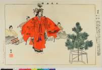 BM-1949_0409_0042「能楽図絵」 「羽衣」・・『』