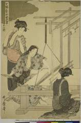 RV-1327-262・・歌麿〈1〉「女織蚕手業草」「十二終」