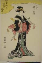RV-1353-1422文化06・04・豊国〈1〉「四季折/\手向の風流」「女だて 瀬川仙女」女だて〈1〉瀬川 仙女