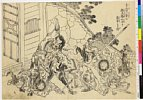 MAOV3732・・北斎「李逵が一挙に殷天錫吐血して落命する図」