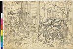 MAOV3775・・北斎「新人の房に魯智深小覇王を懲す」