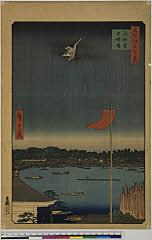 arcUF0053「名所江戸百景」 「駒形堂吾妻橋」・・『』