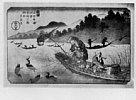 Z0171-380・・英泉(長柄川鵜飼船)
